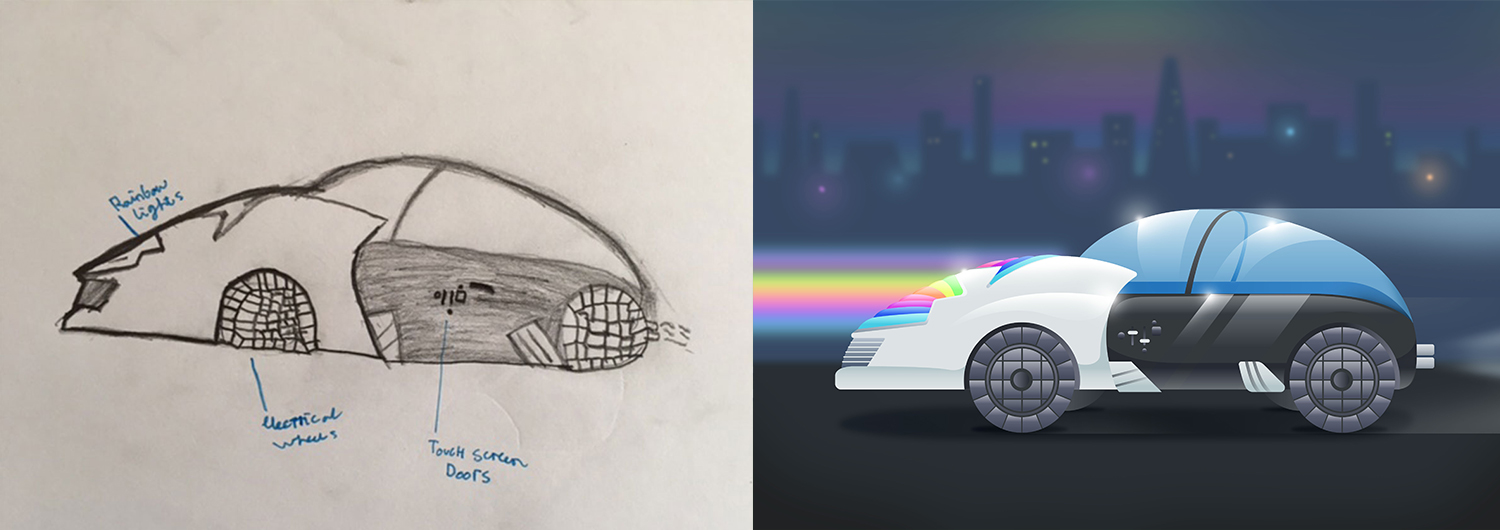 A Bunch Of Yearolds Designed The Cars Of The Future And The - Future cars