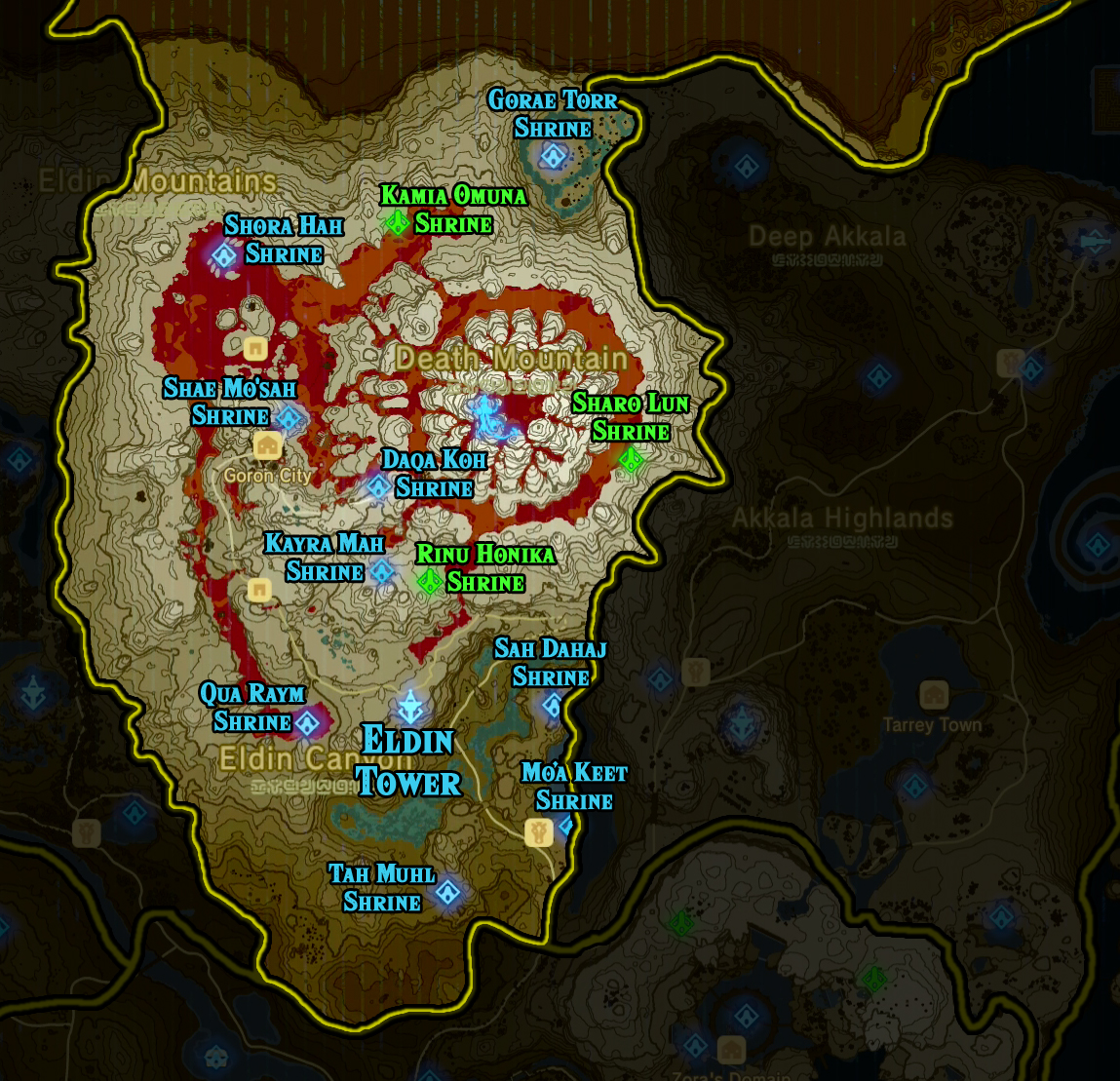 Zelda Breath Of The Wild Shrine Maps And Locations Polygon