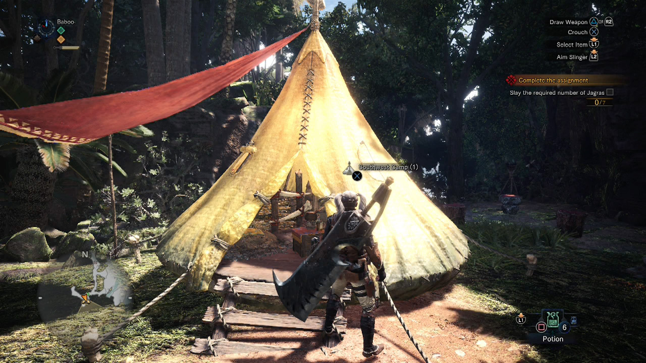 how to get more camps monster hunter world