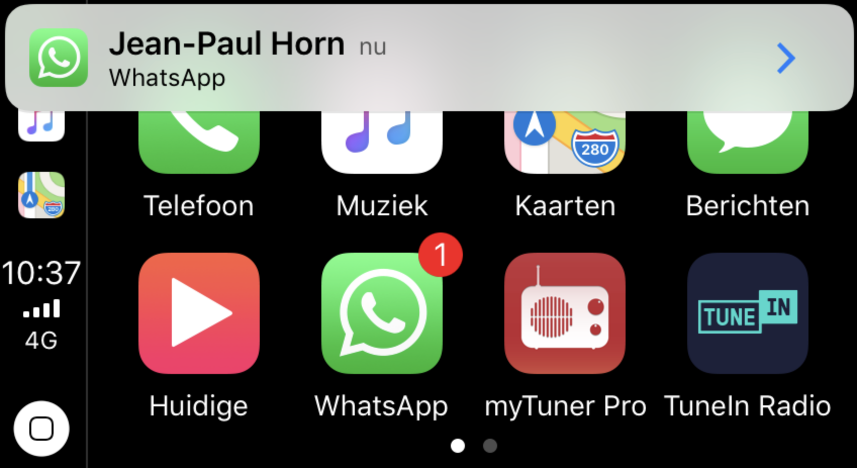 WhatsApp now supported by Apple's CarPlay