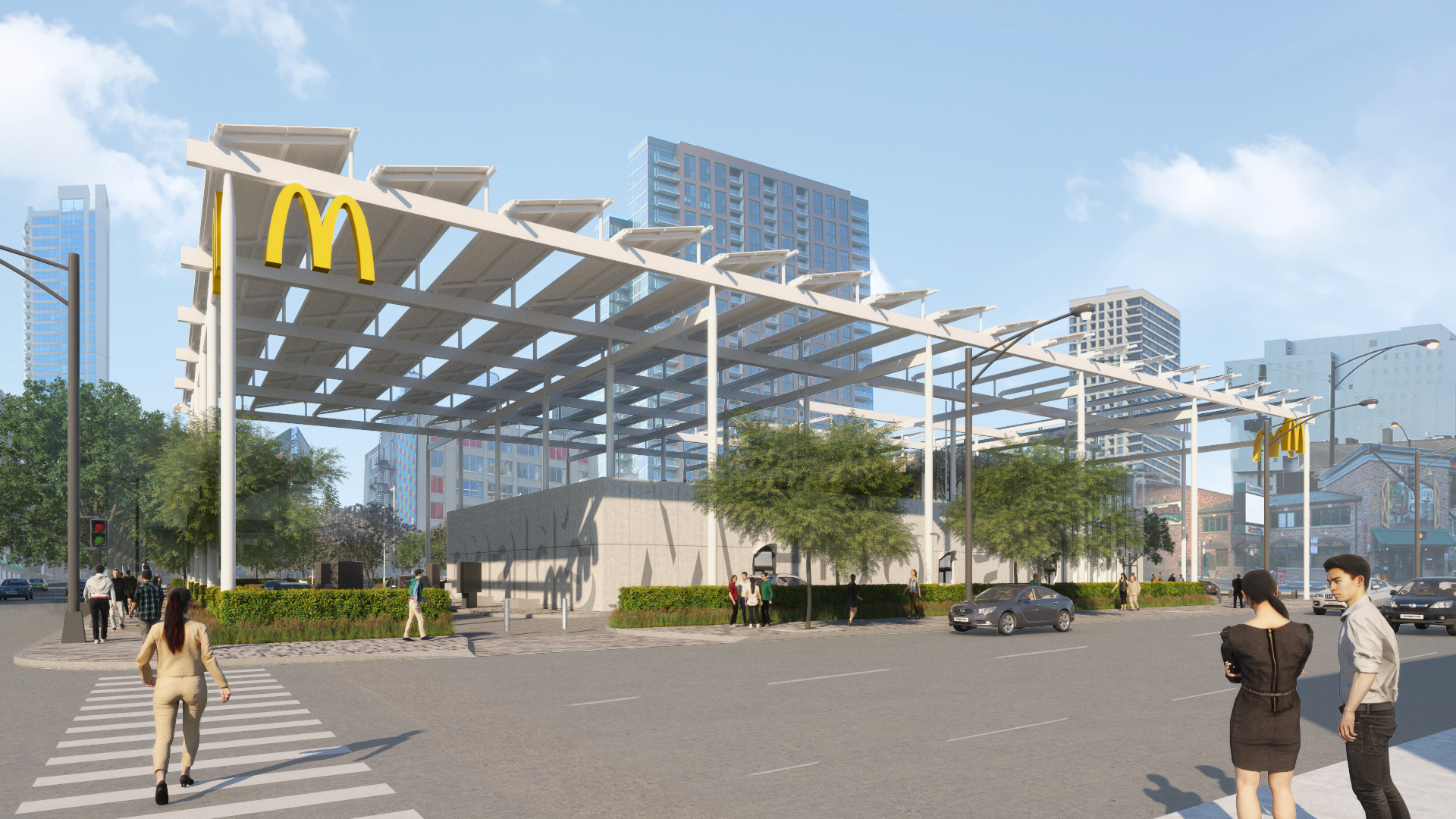 Giant Futuristic McDonald's With Lots of Trees to Open in ...