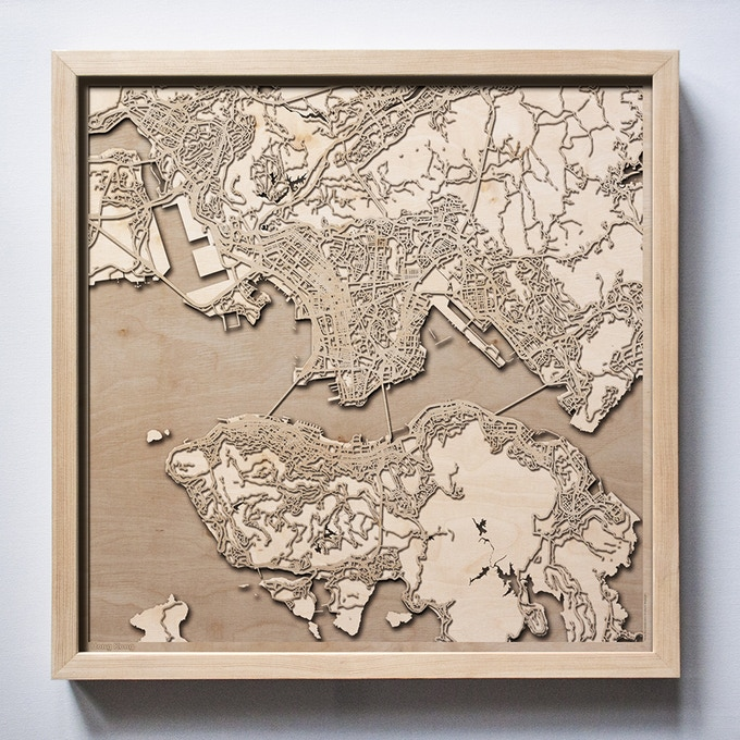 Minimalist D City Maps Are Made Of Wood Curbed - Us map with cities