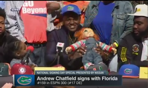 Recruit's mom walked out of signing-day ceremony when he chose Florida