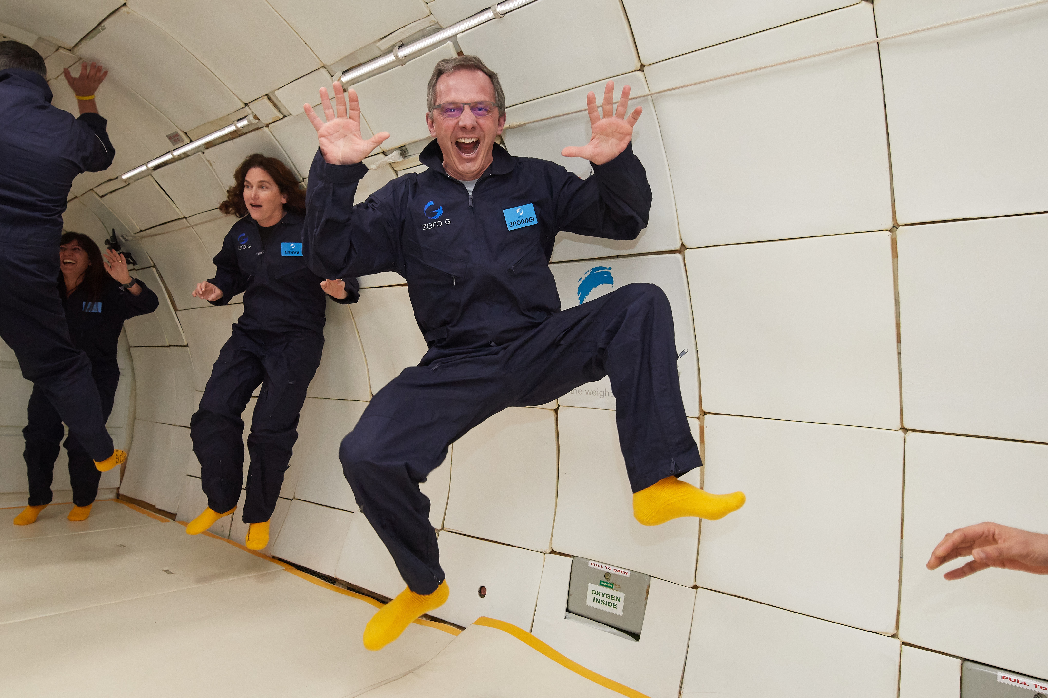 Image result for HP TOOK ME ON A ZERO-GRAVITY FLIGHT TO PROMOTE THEIR SPACE PRINTER