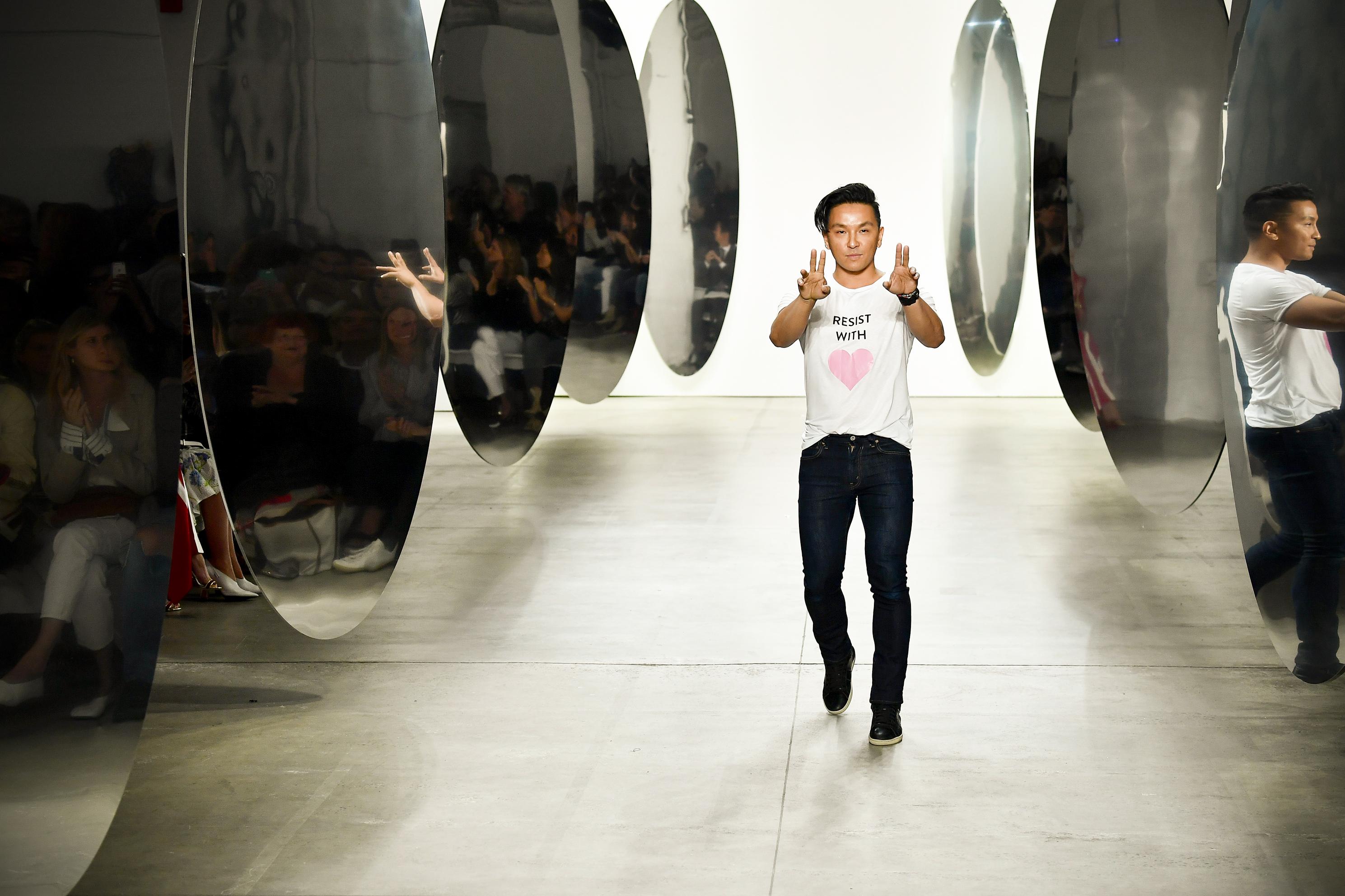 Prabal Gurung during New York Fashion Week on September 10, 2017.