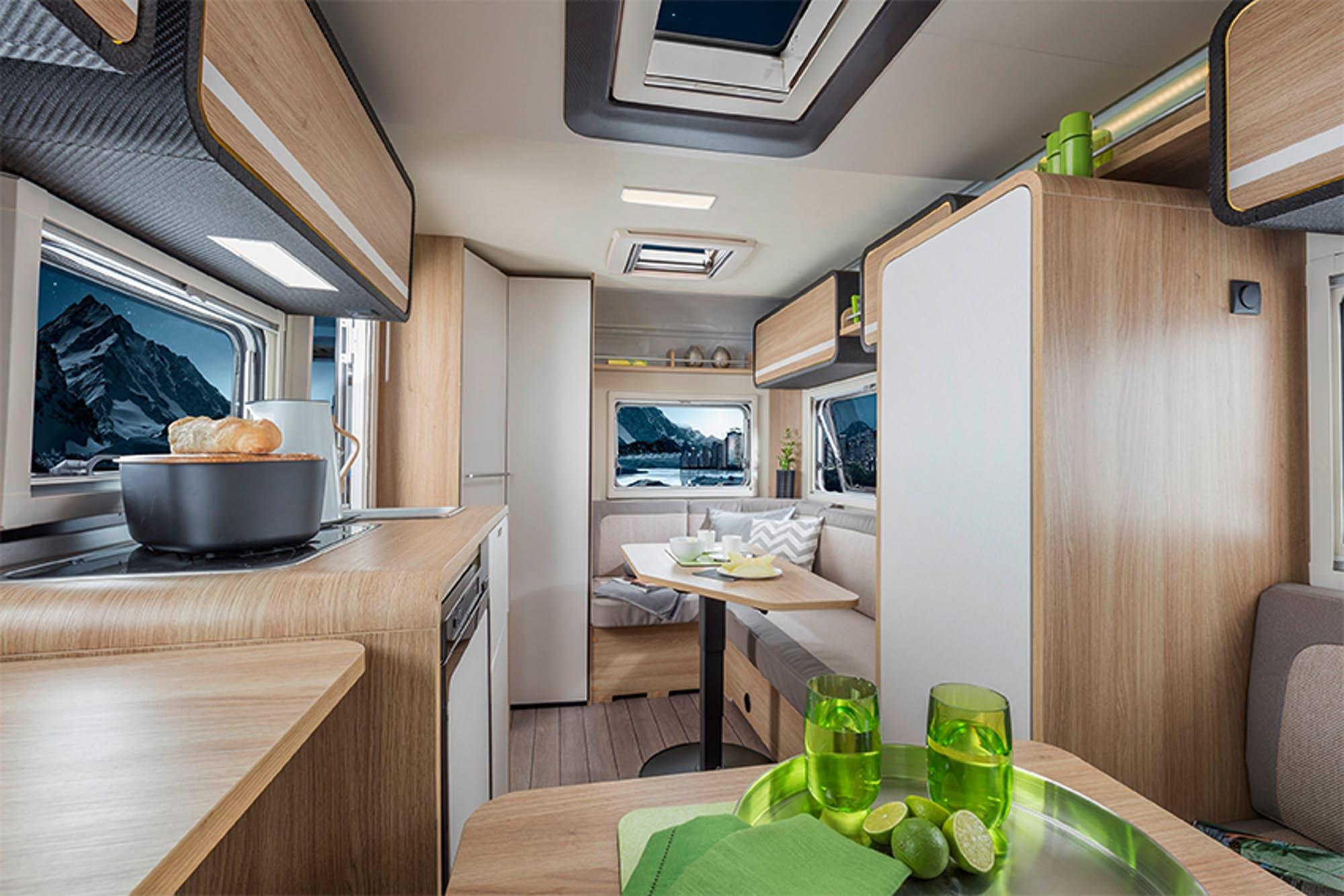 High-tech camper features adjustable smart glass window