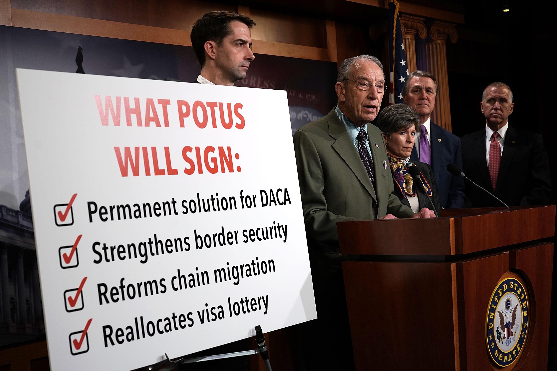 Senate Lawmakers Discuss Immigration Reform Process