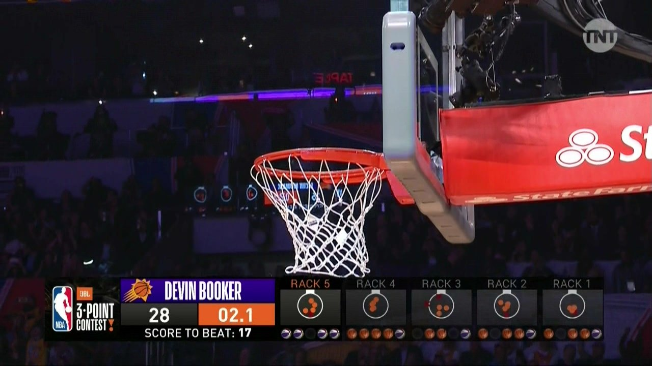 Devin Booker's 28 points is a new 3-point contest record ... kinda