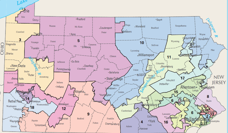 Pennsylvanias New Congressional District Map Will Be A Huge Help - Us Congressional District Map