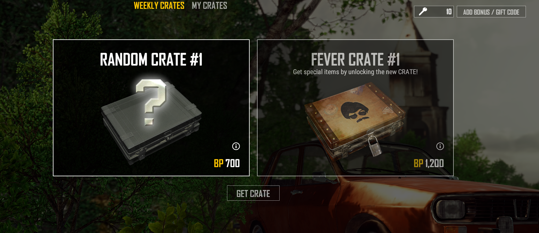 Loot crates from PUBG