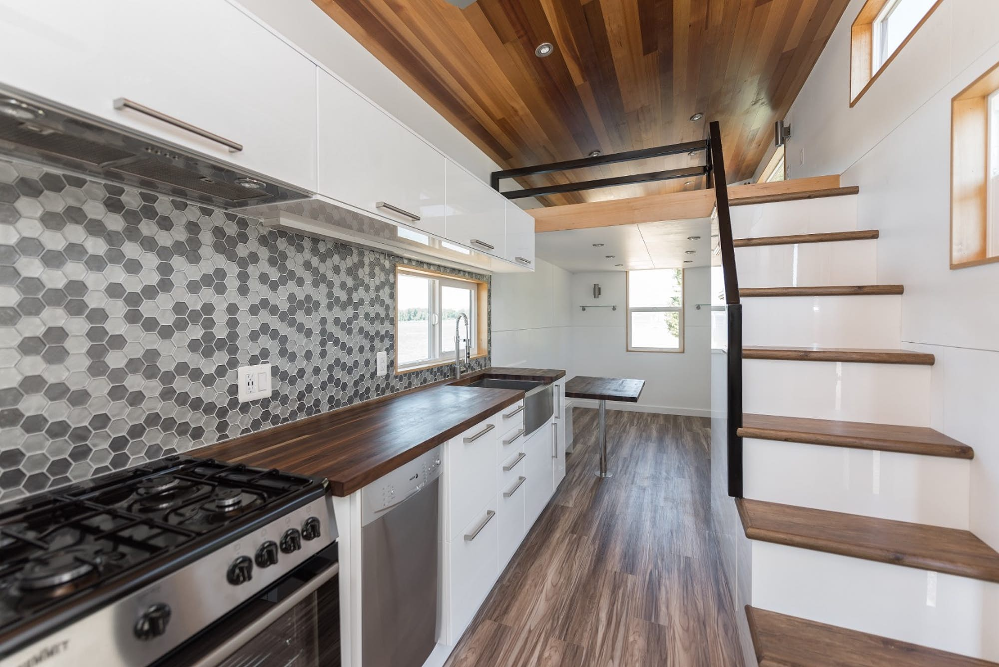 The Home Comes In Three Lengthsu201424, 28, Or 32 Feetu2014with Exterior Details  Including Cedar Accent Siding And Black Metal Framing. Inside, The Home Has  Ample ...