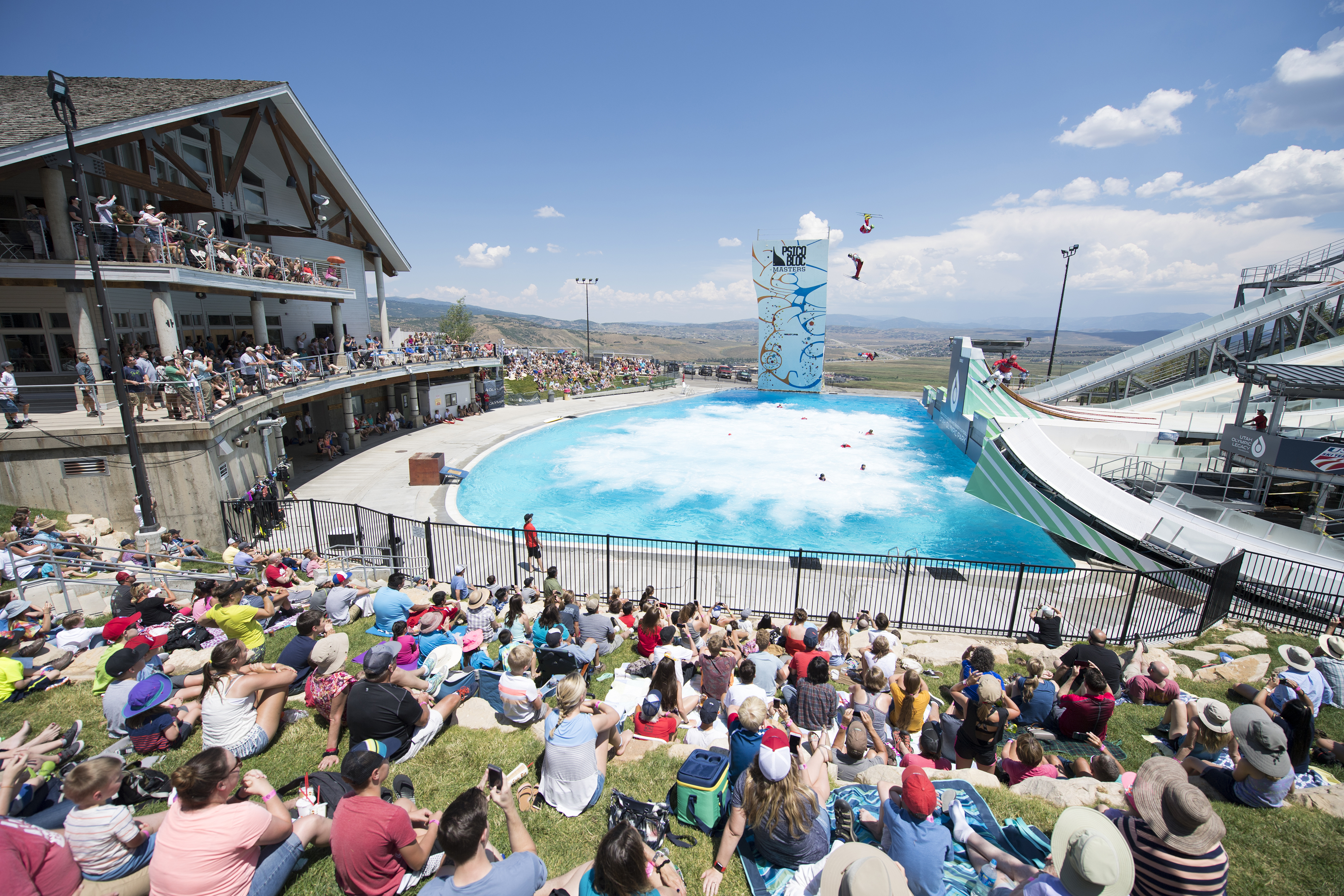 A Freestyle Aerial Show In The Summer At Utah Olympic Park Image Courtesy Of City Chamber Bureau