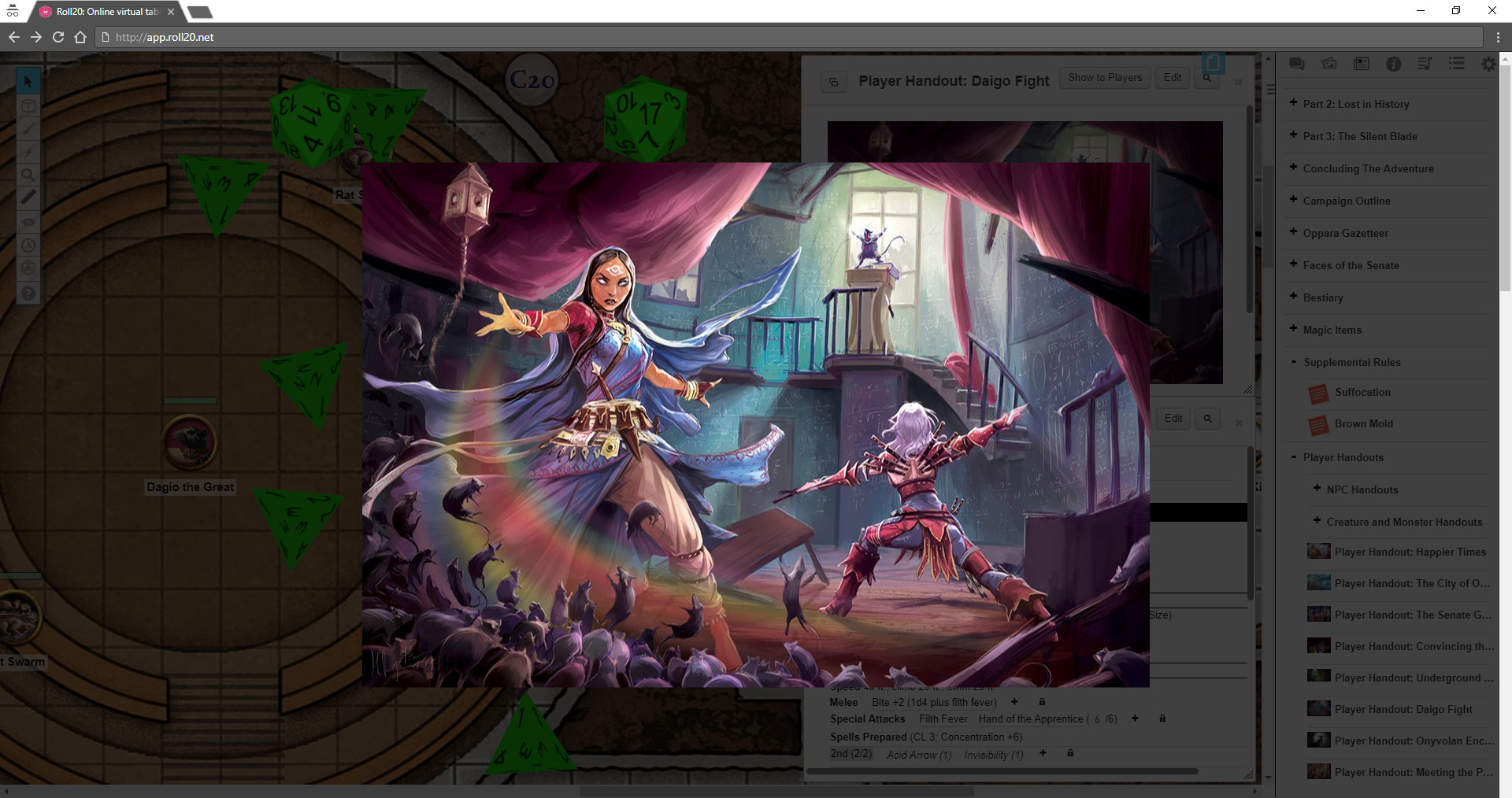 Pathfinder on your tablet and in your browser, complete with