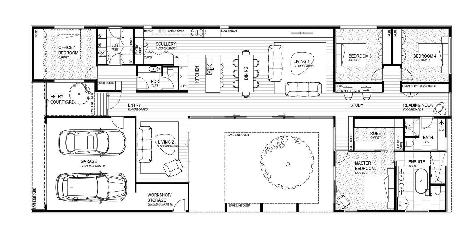 small courtyard house plans modern courtyard house is a seaside curbed 21888