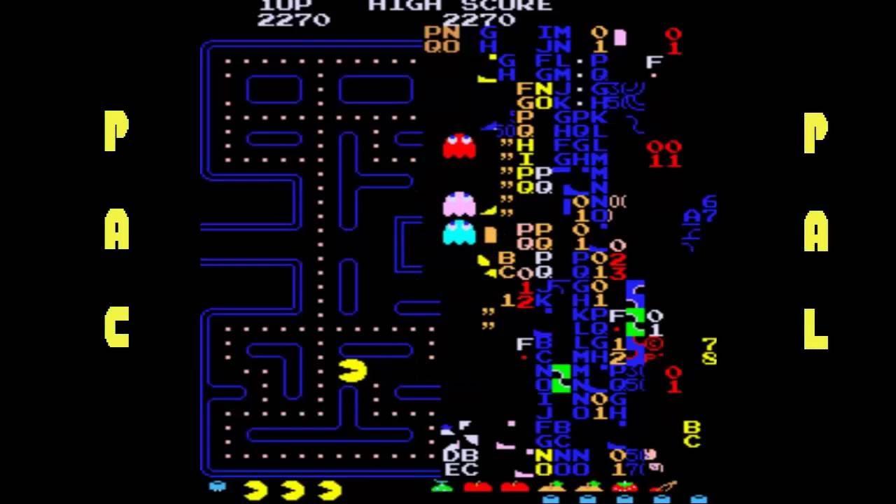 pac-man arcade stage 256