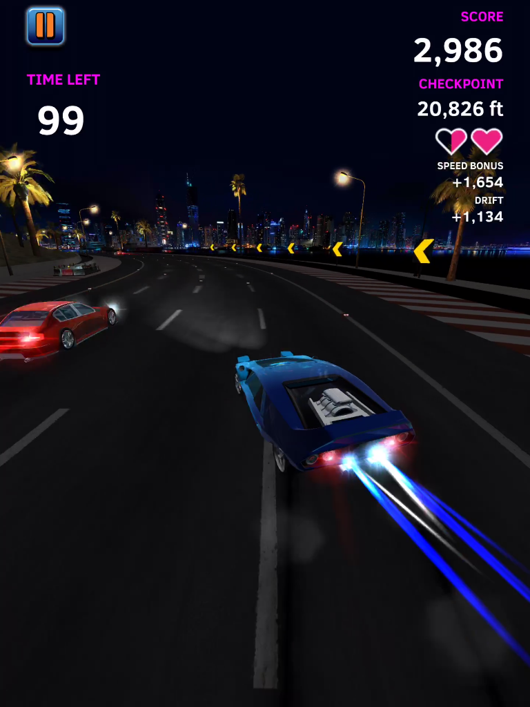 Neon Race Car Atari