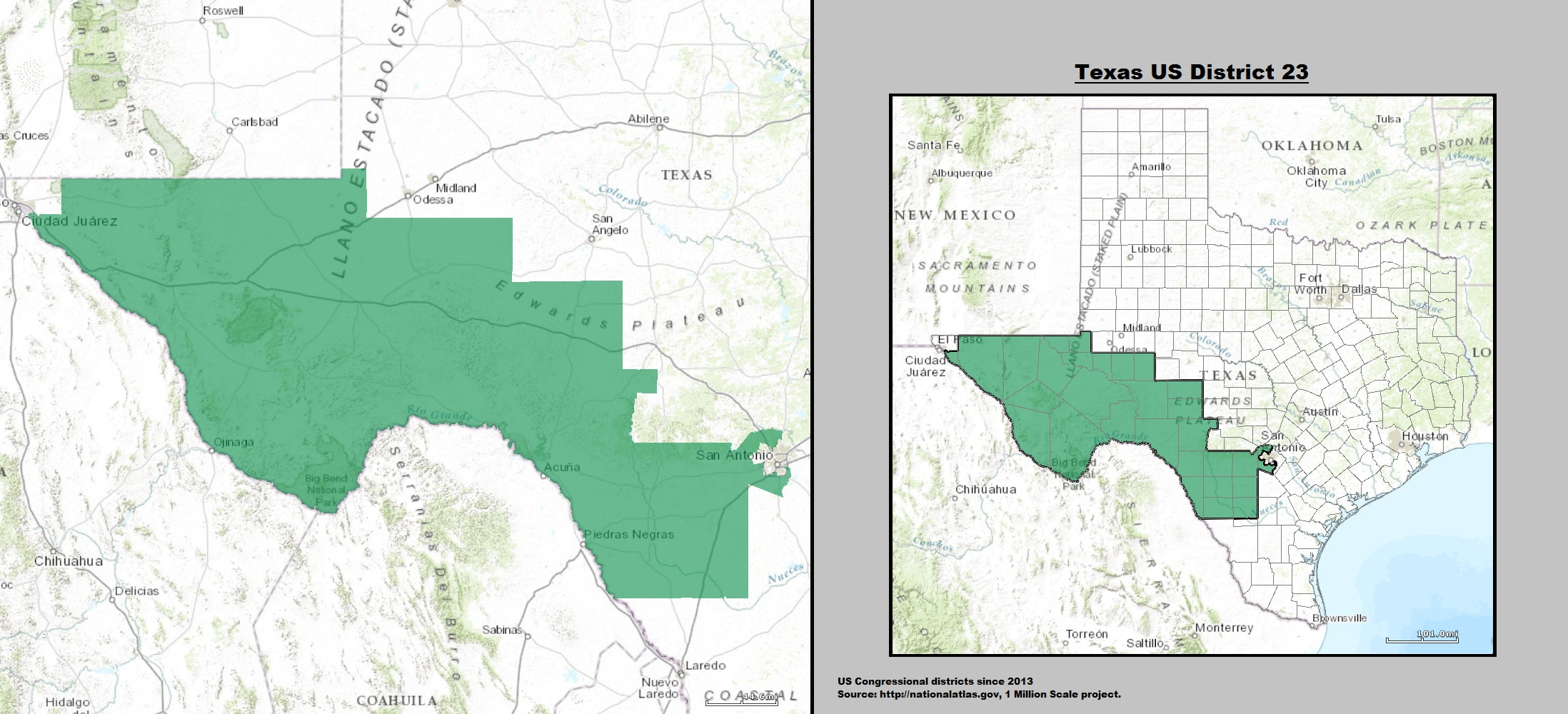 texas s 23rd congressional district map