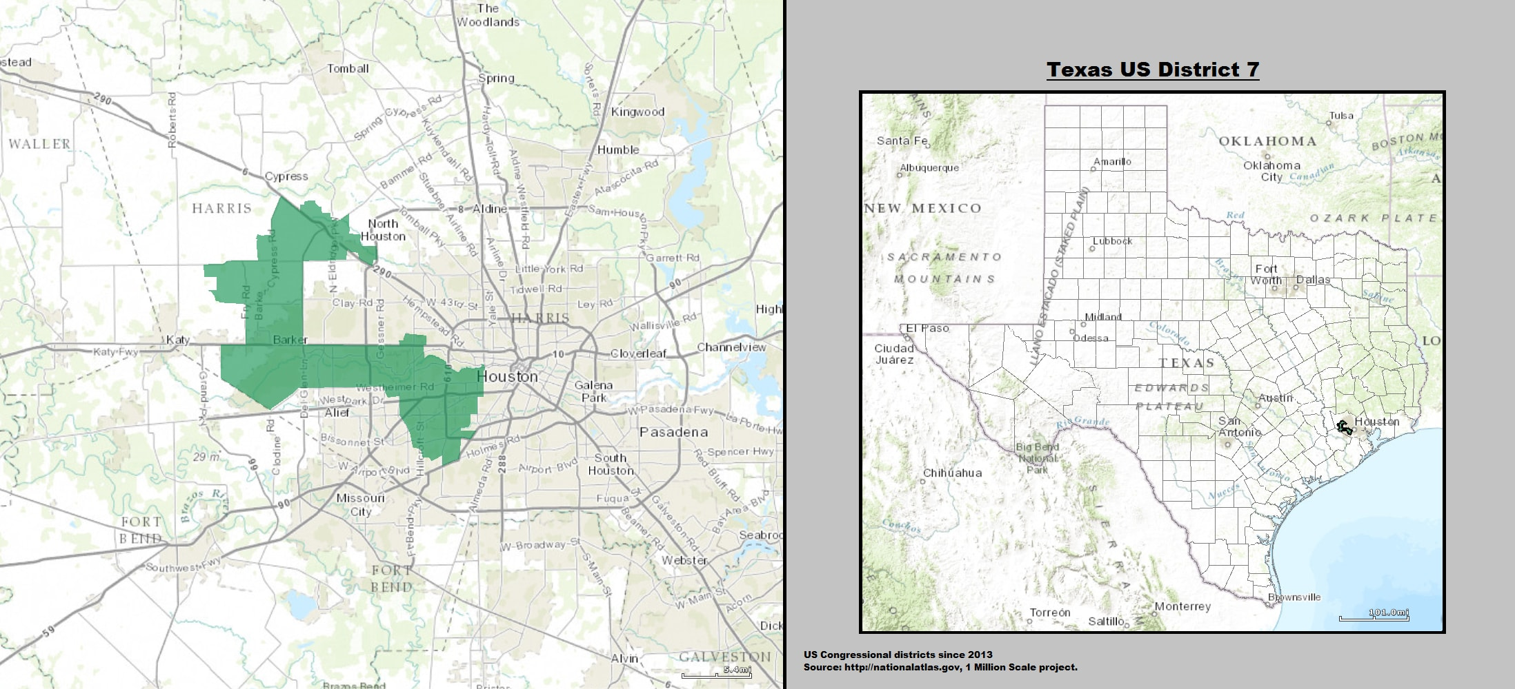 texas s seventh congressional district map