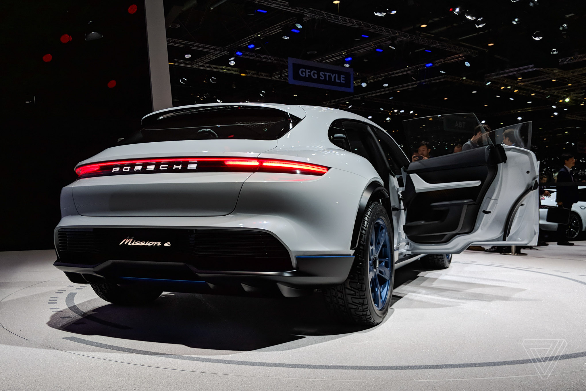Porsche s new all electric suv concept is too pretty to go off road the verge - Geneva car show ...