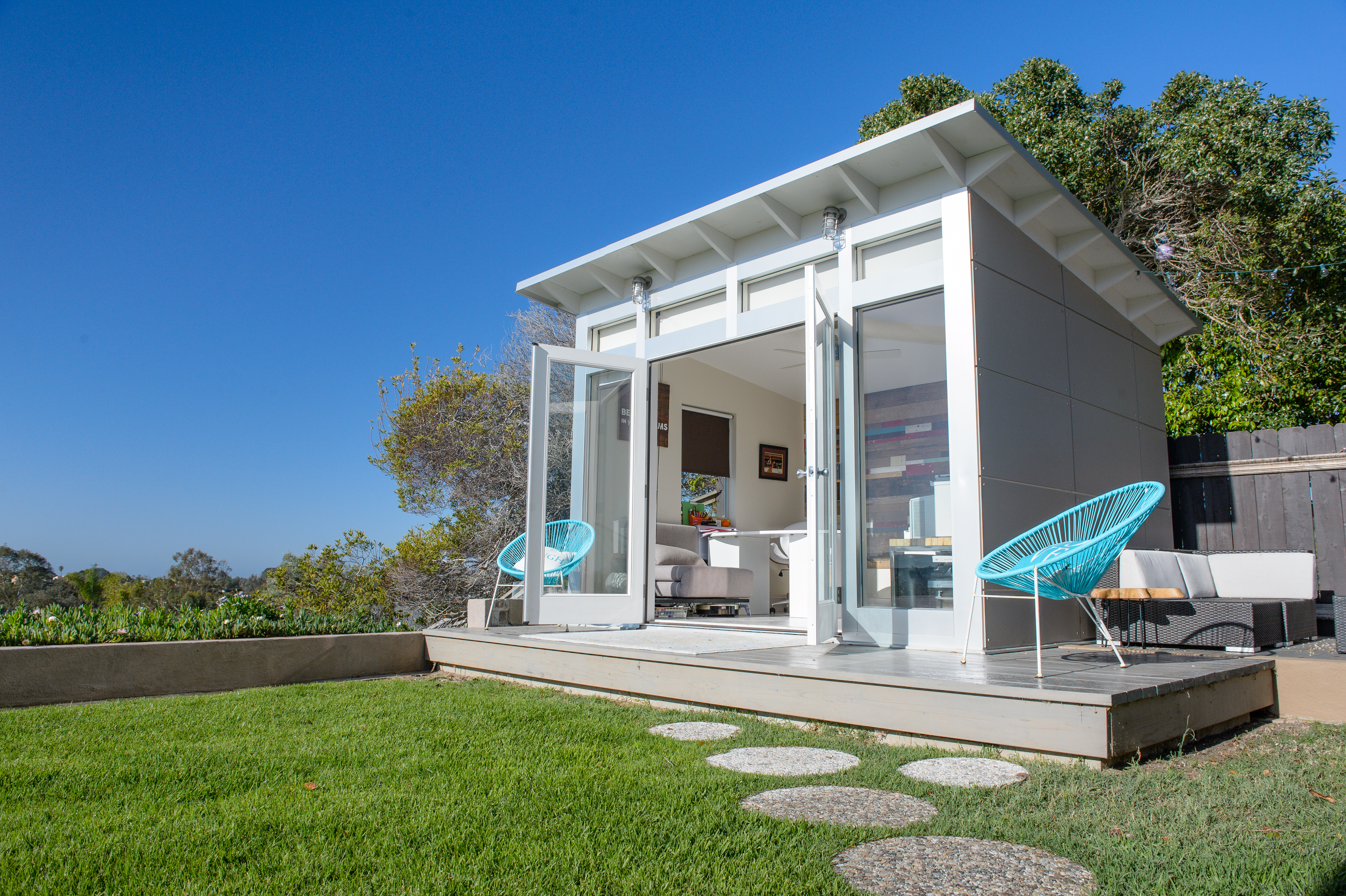 A 10 Foot By 12 Foot Studio Shed Signature Series Model Makes A Roomy  Backyard Home Office. Courtesy Of Studio Shed.com