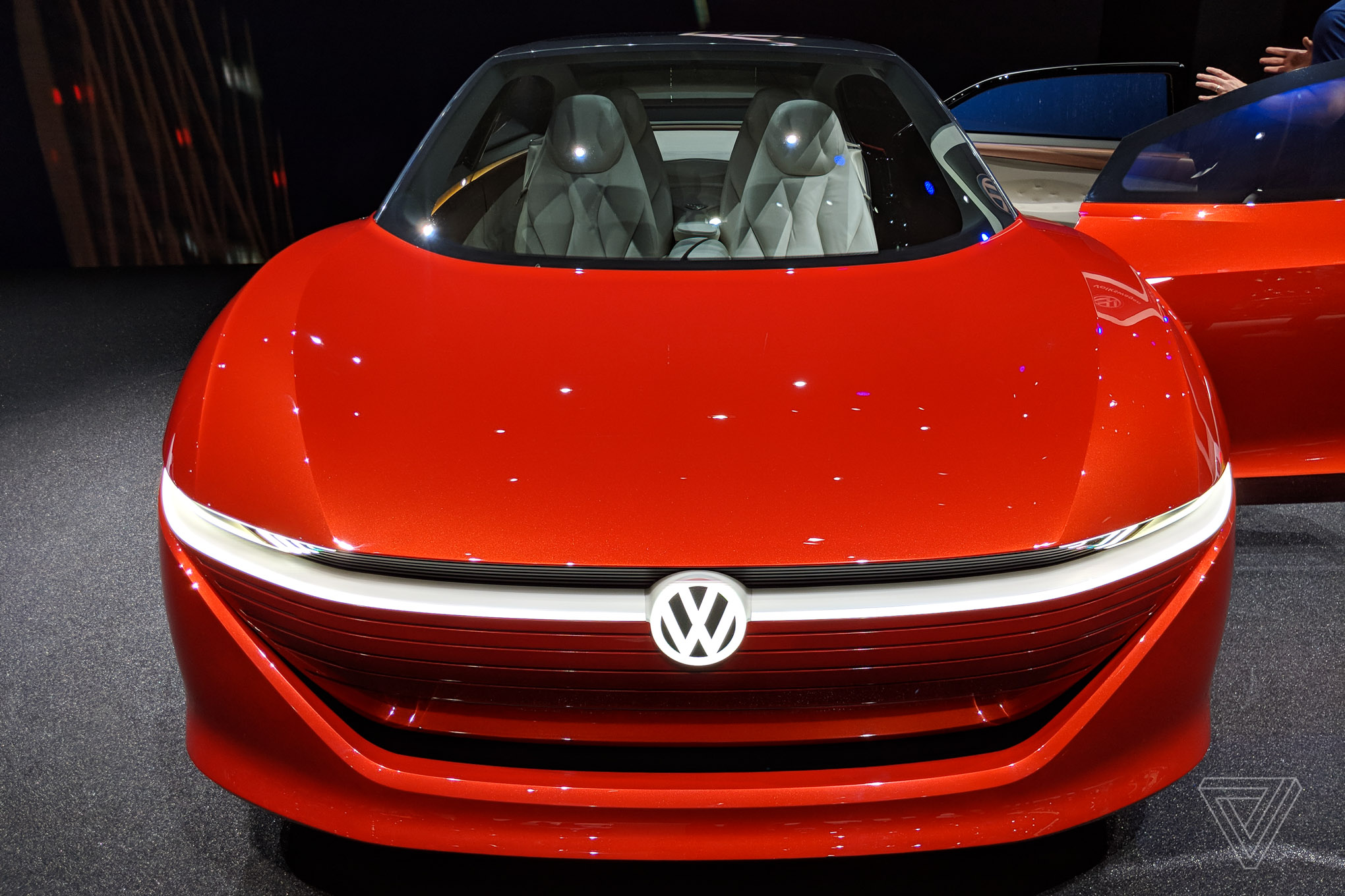 The Volkswagen I D Vizzion Is A Furry Mess The Verge