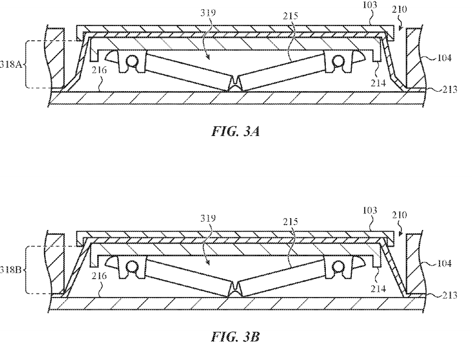 Apple patent reveals MacBook keyboard protected from crumbs and dust