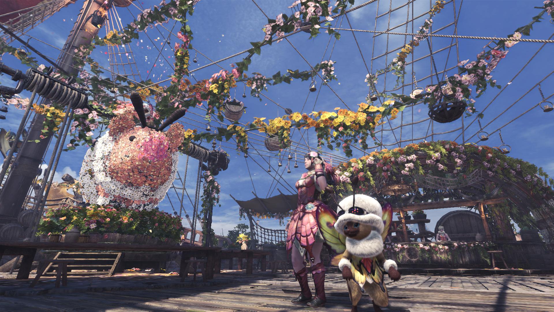 monster hunter world spring blossom fest update