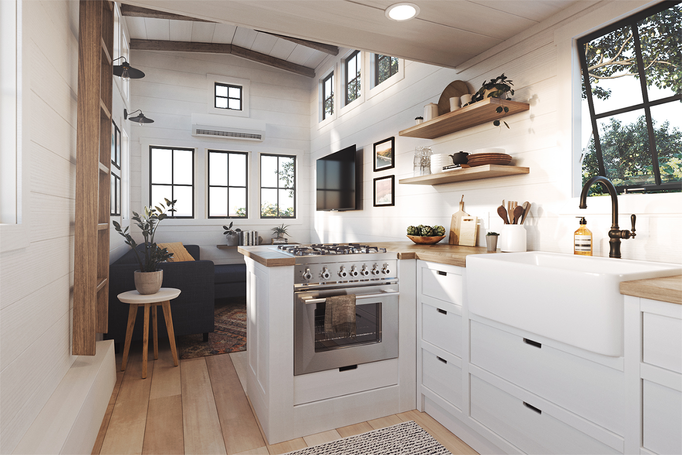 tiny houses targeting millennials come preloaded with amenities curbed. Black Bedroom Furniture Sets. Home Design Ideas