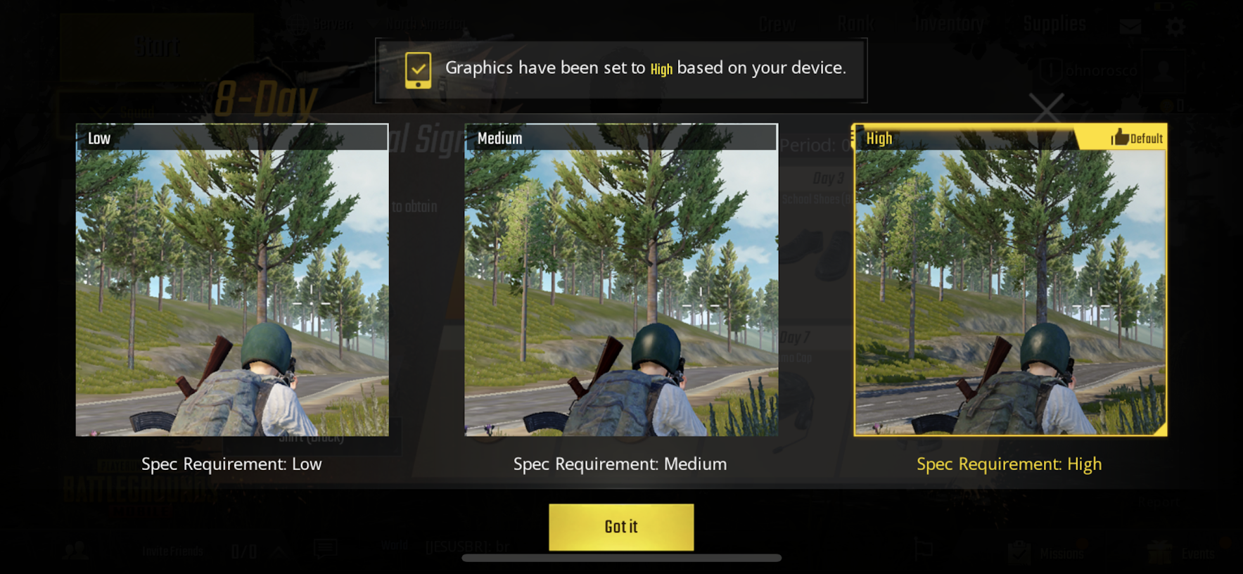 cara main pubg di ipad mini 1