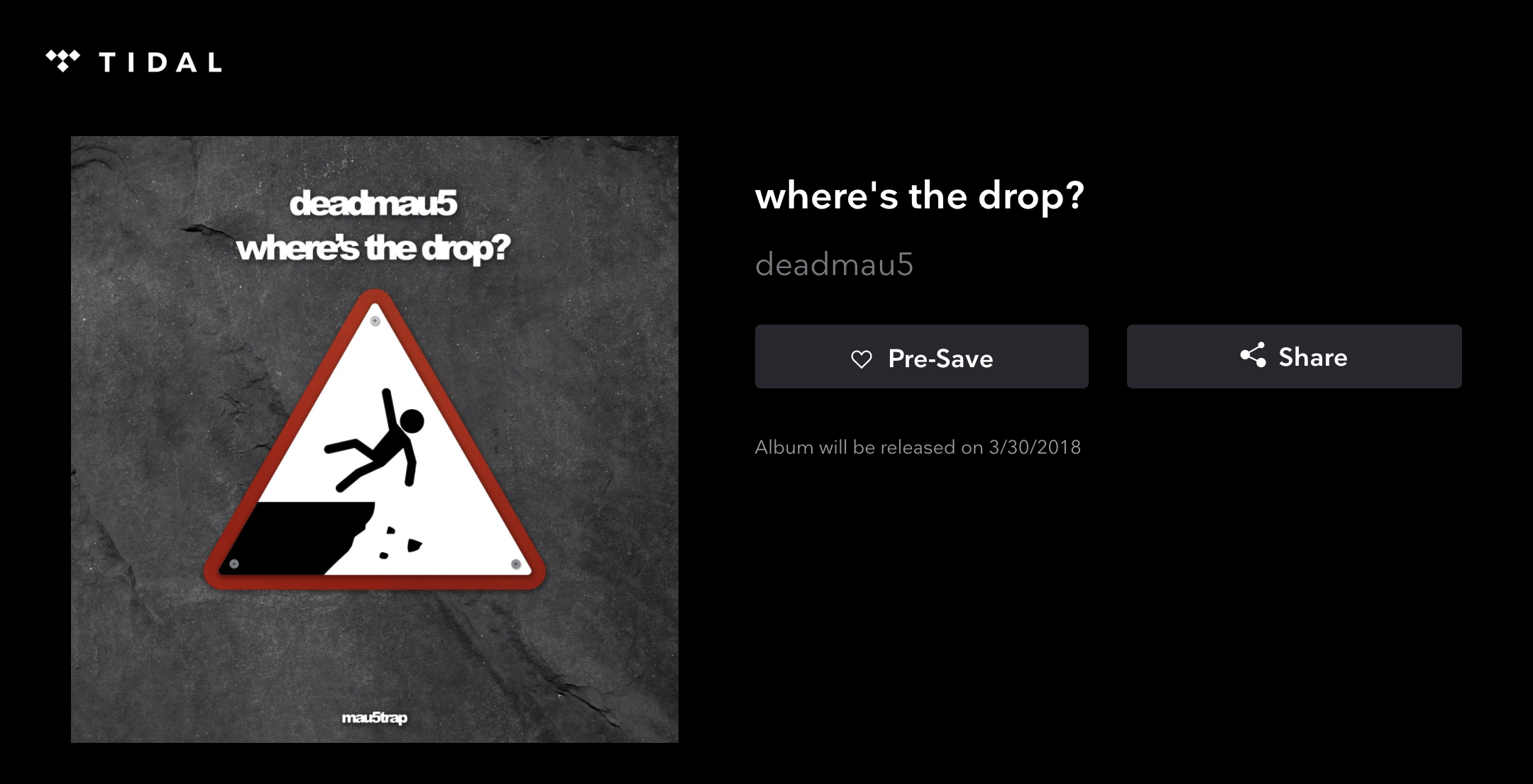 Tidal adds pre-save option for upcoming albums