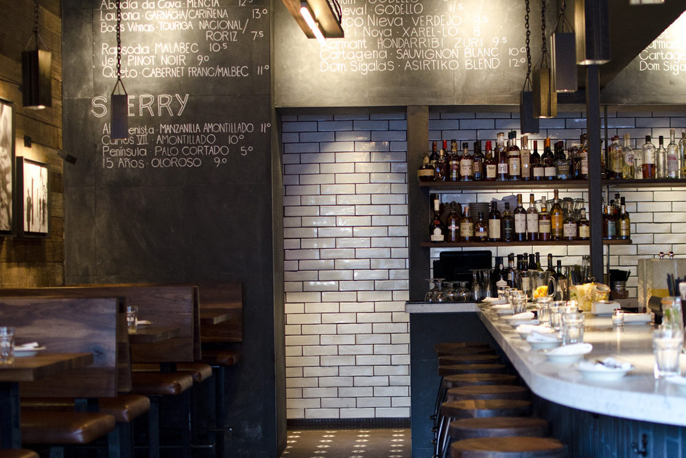 Gaze At Barcelona Wine Bar S Endless Reclaimed Wood