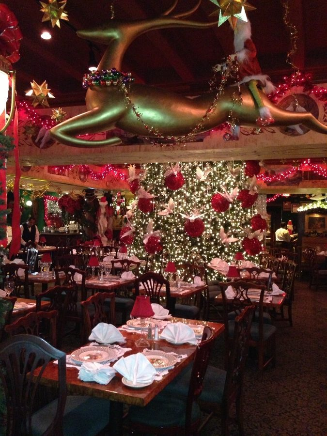 over at filomena ristorante in georgetown christmas decorations are also a big deal staff at the restaurant guess that there are least 10000 lights on - Christmas Hall Decorations