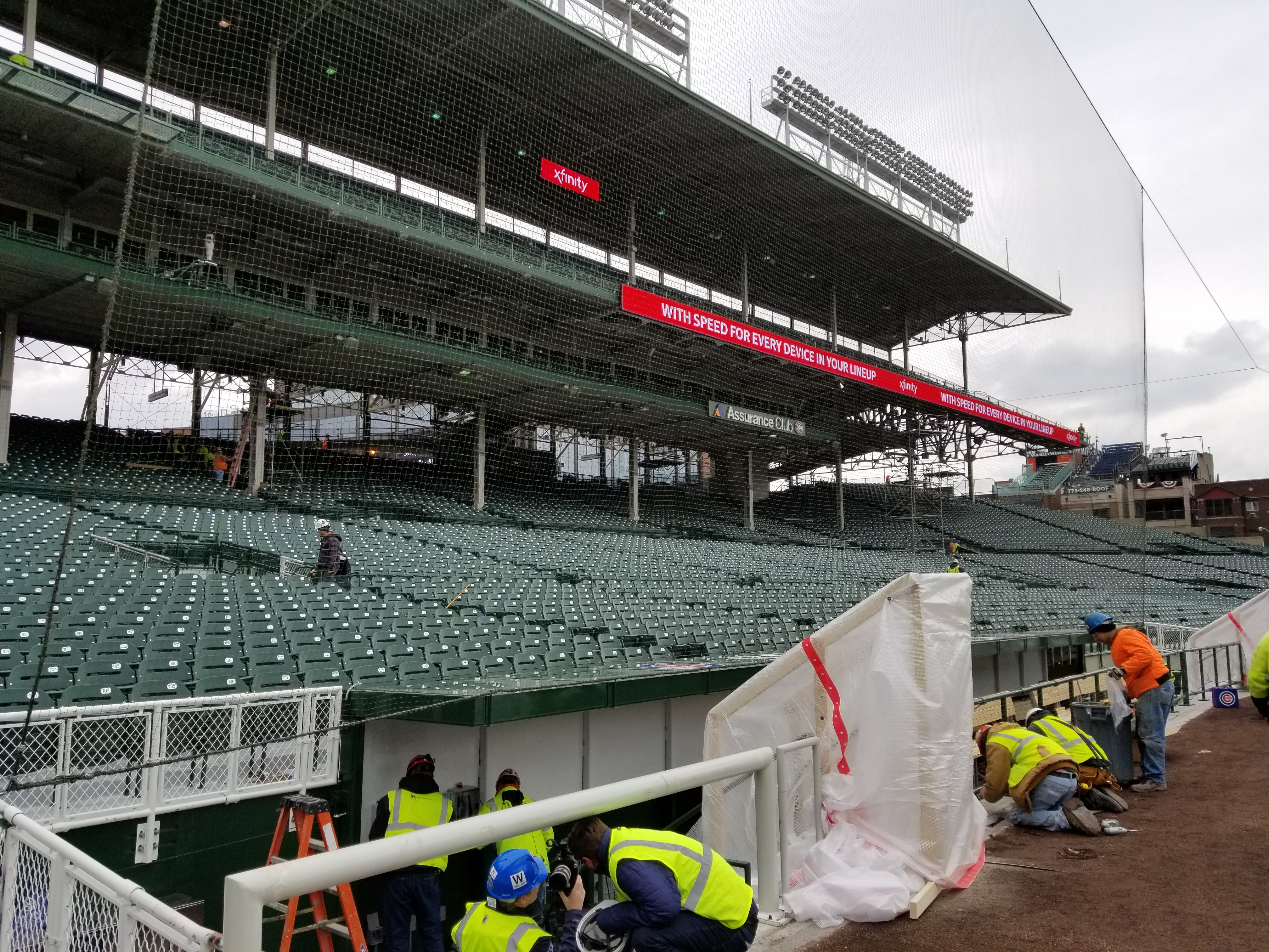 Wrigley Field construction update April 6 1st look at the new