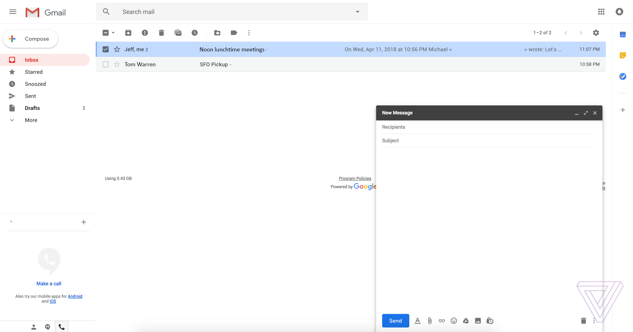 This Is The New Gmail Design Verge 71 Nova Engine Wiring Diagram 1 Of 8