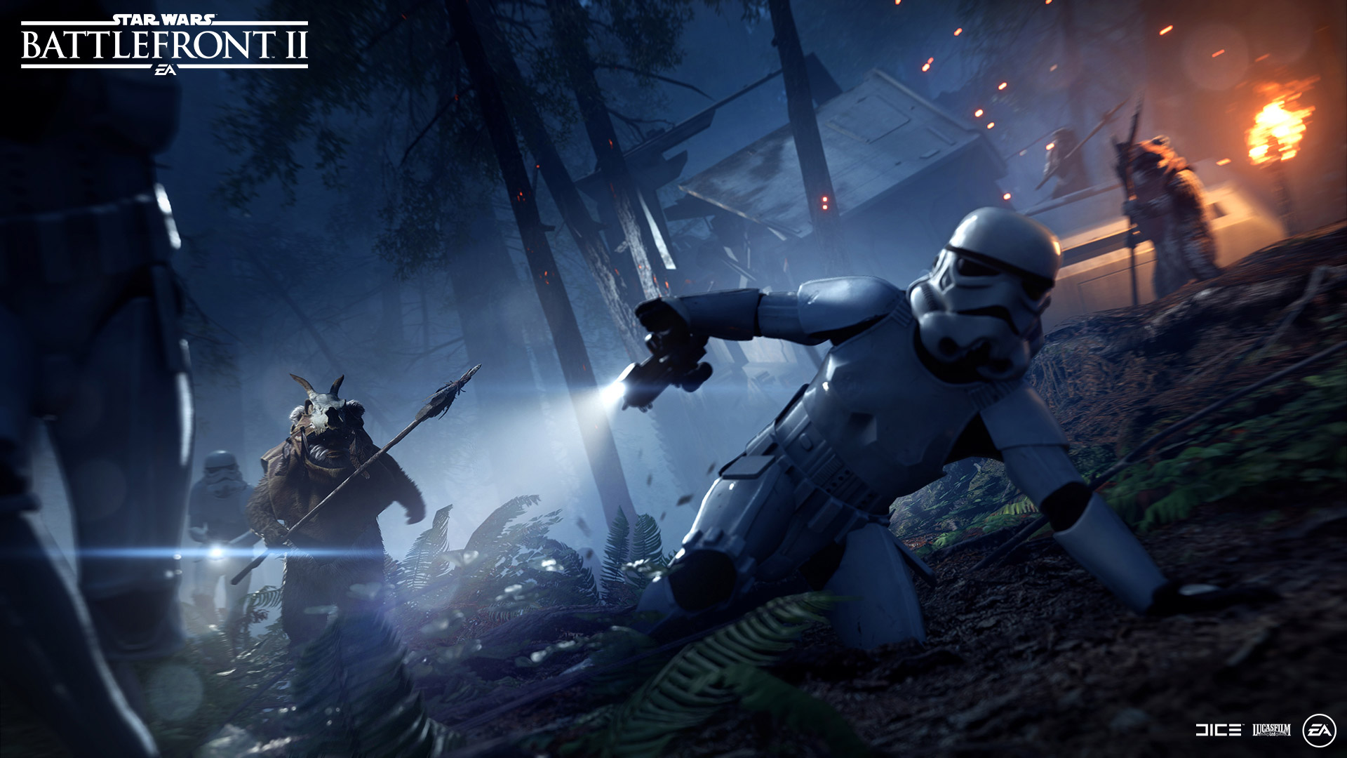 Star Wars Battlefront 2 Ewok Battle