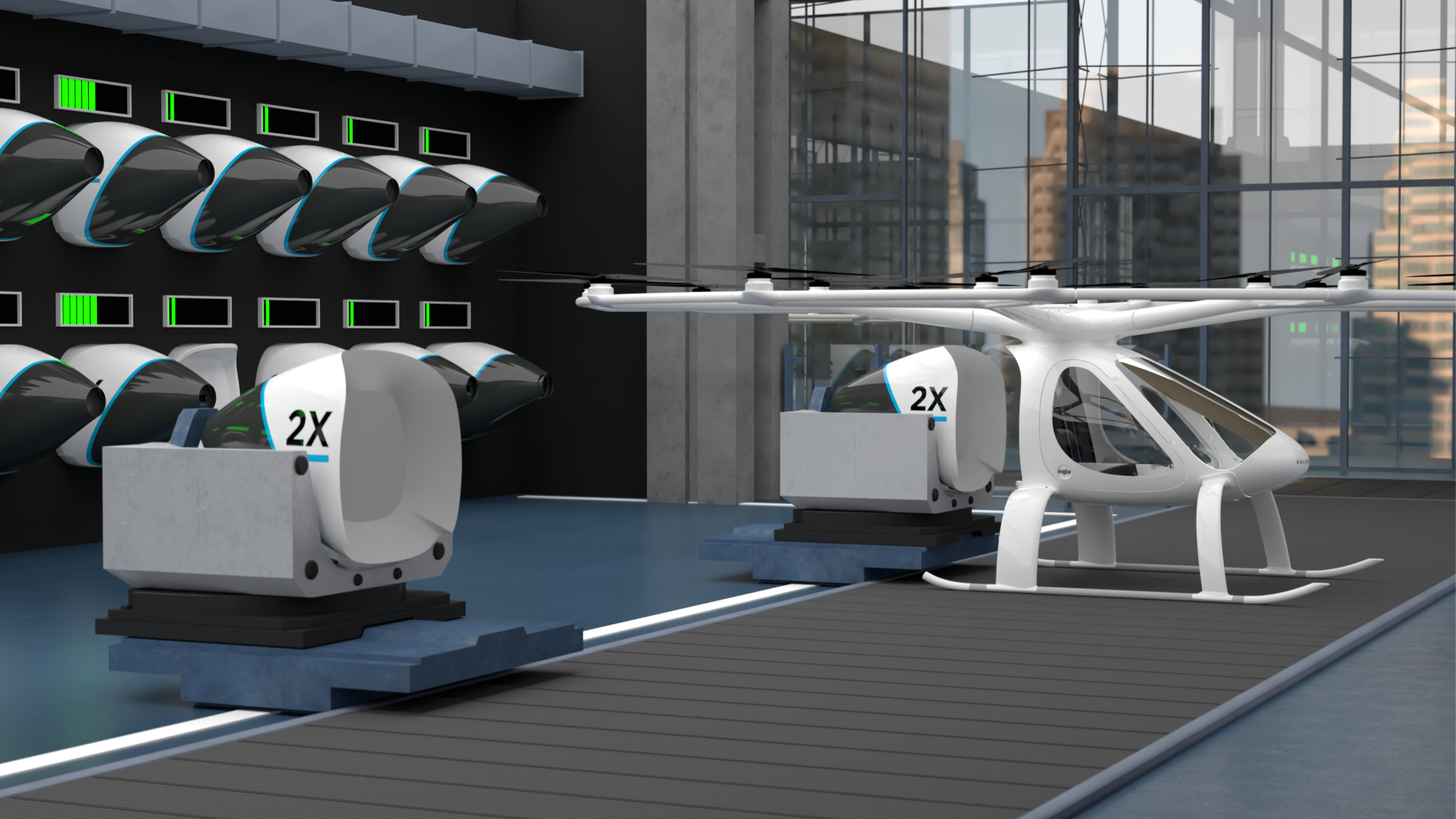 Volocopter Envisions Air Taxi Stations That Can Handle