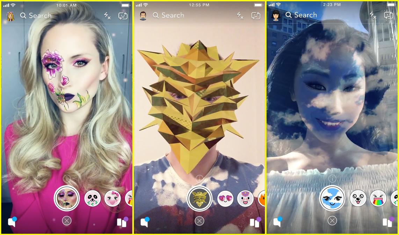 créer ses propres filtres Snapchat