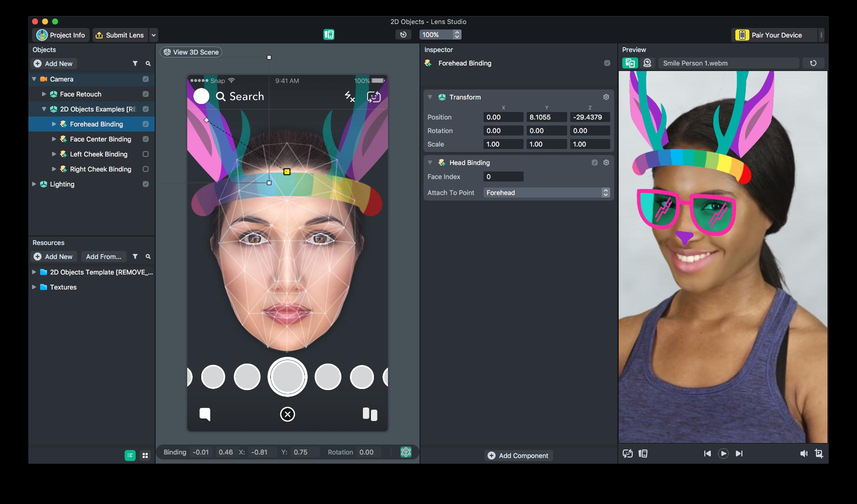 logiciel création filtres Snapchat