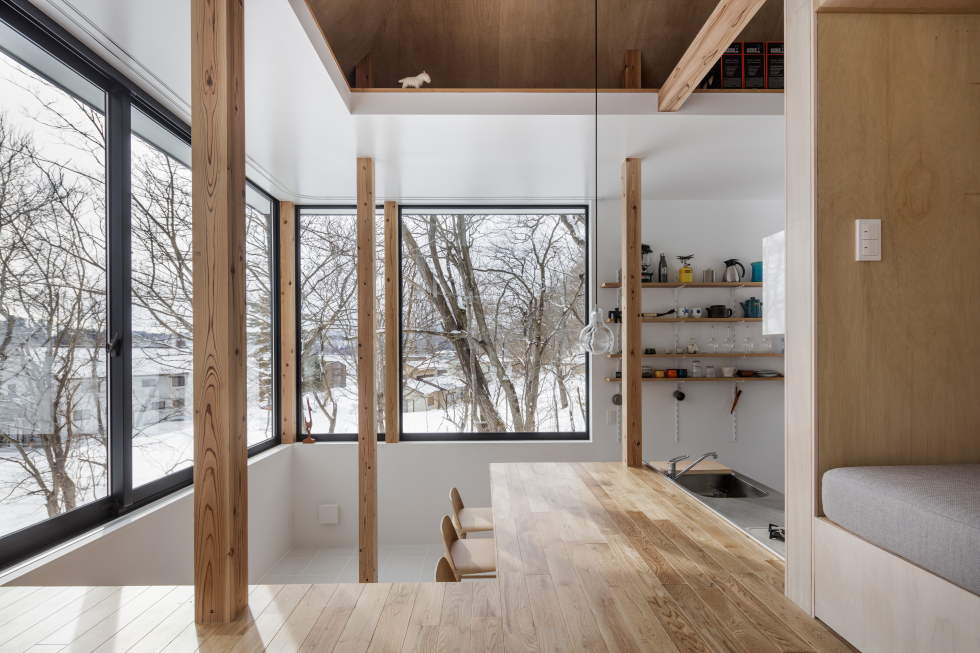 Modern Japanese lake house comes with a twist