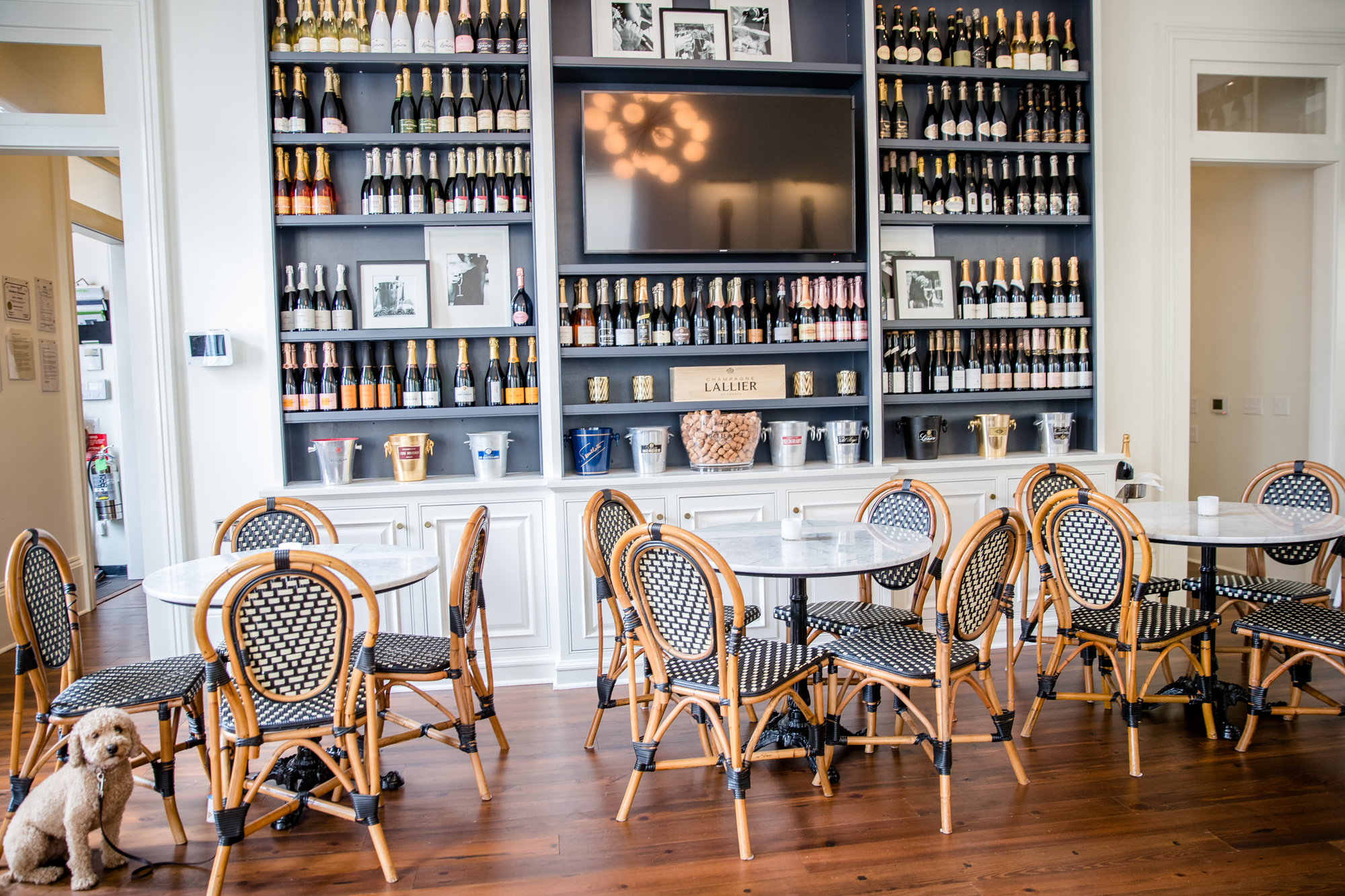 Effervescence champagne and wine bar interior