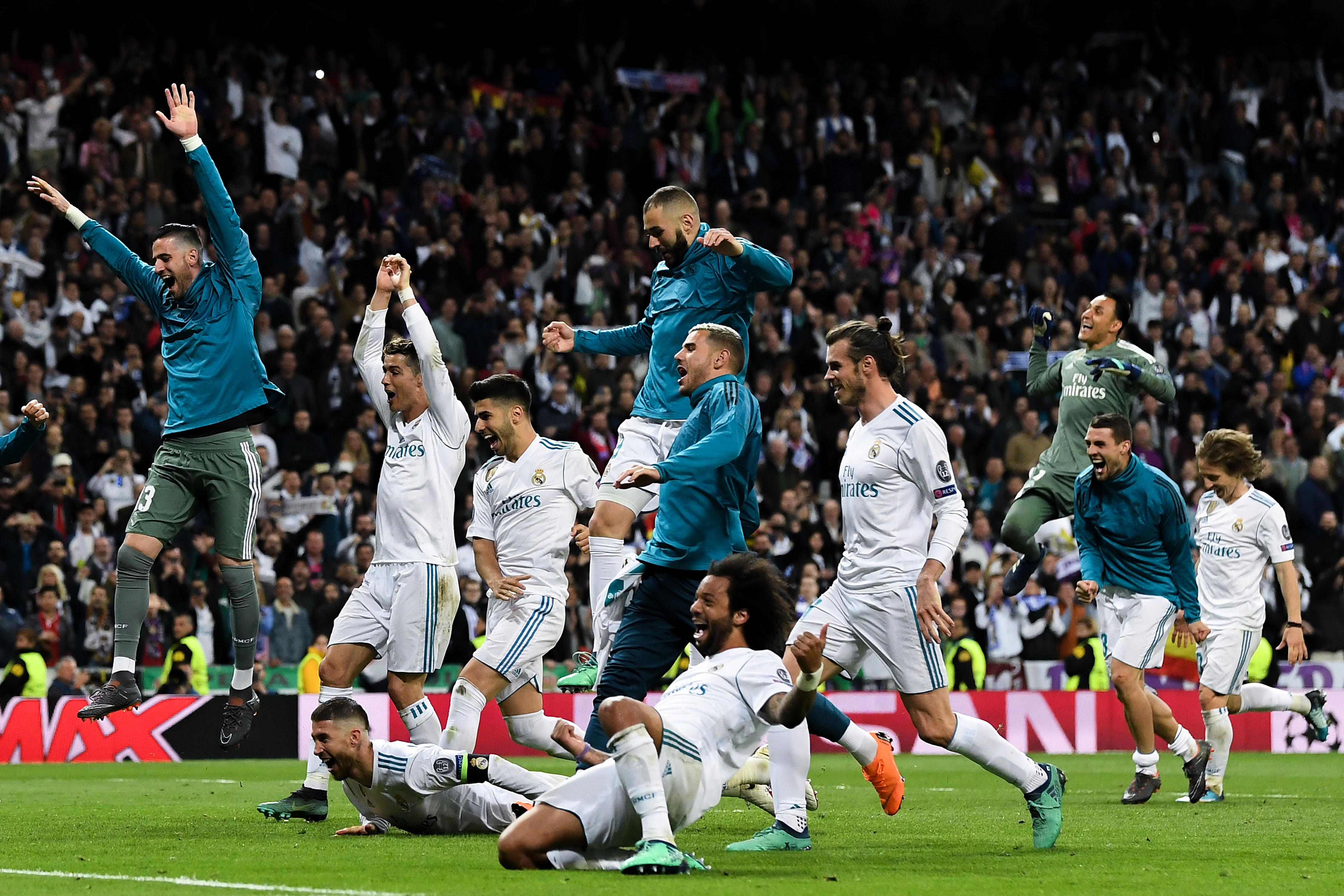 Image result for Real Madrid celebrations