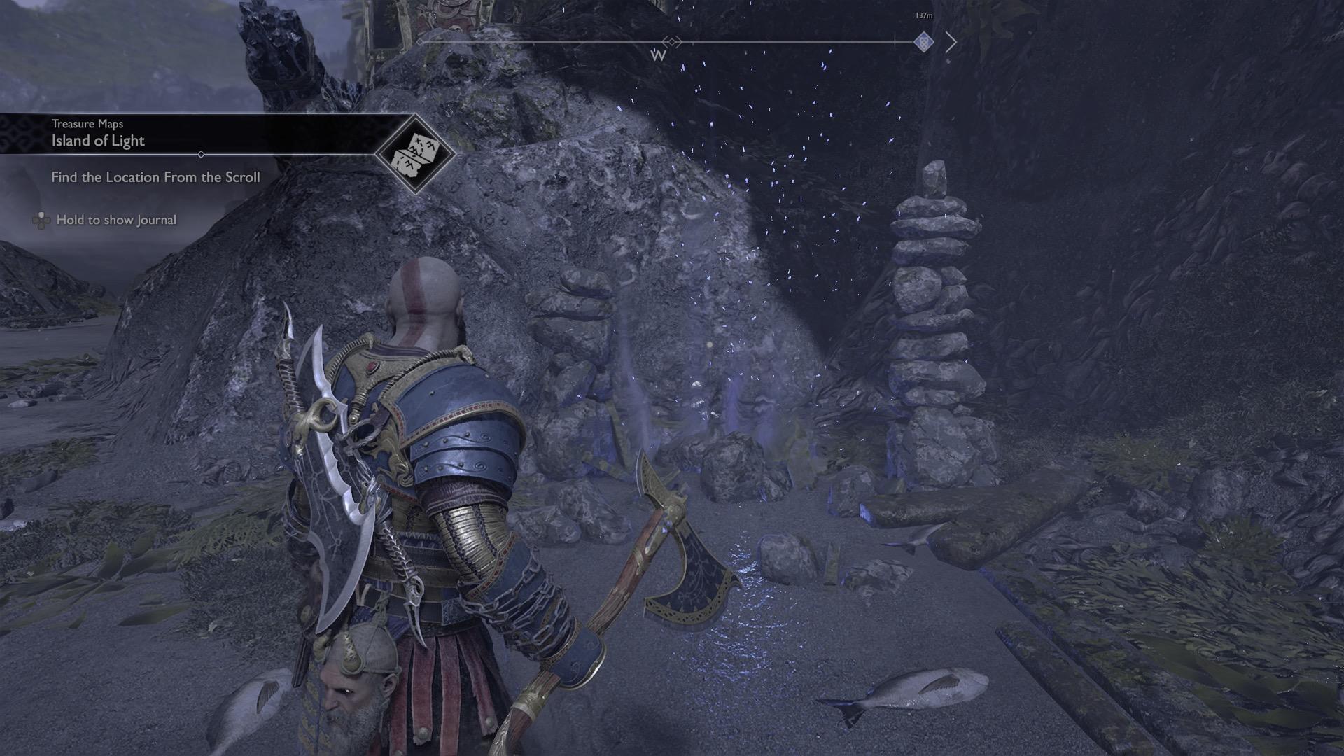 God of War guide: Island of Light treasure map location