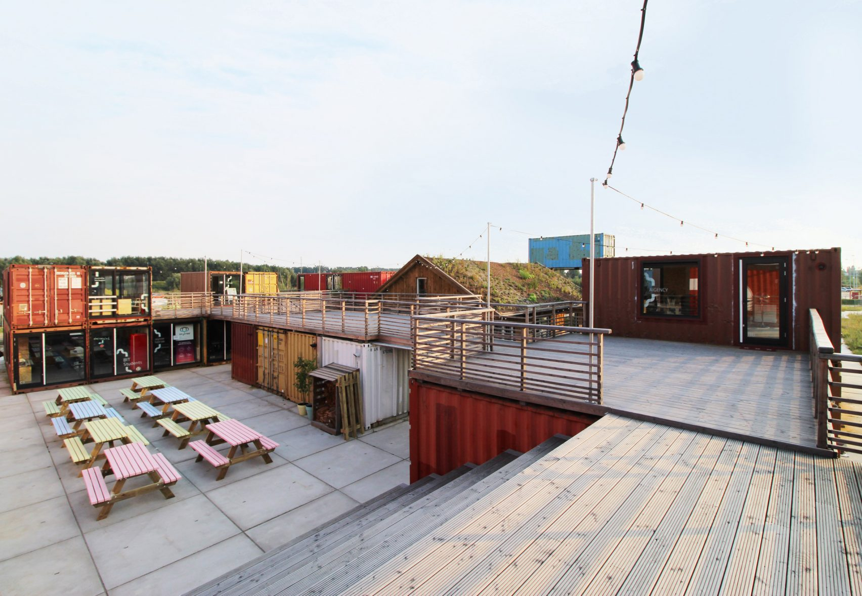 Shipping container coworking space opens in Amsterdam