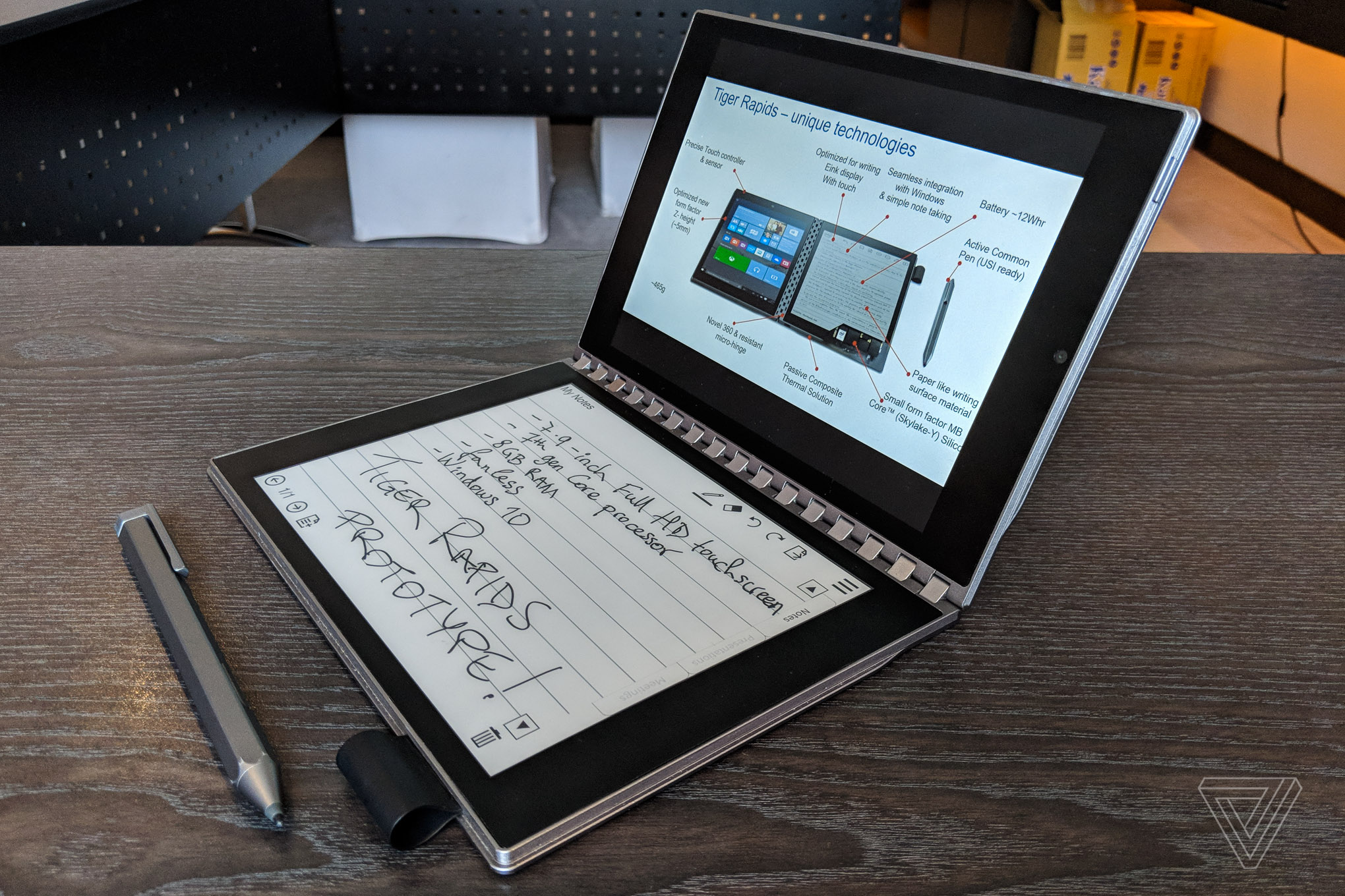 This dual-screen concept splices a Windows PC with an E Ink