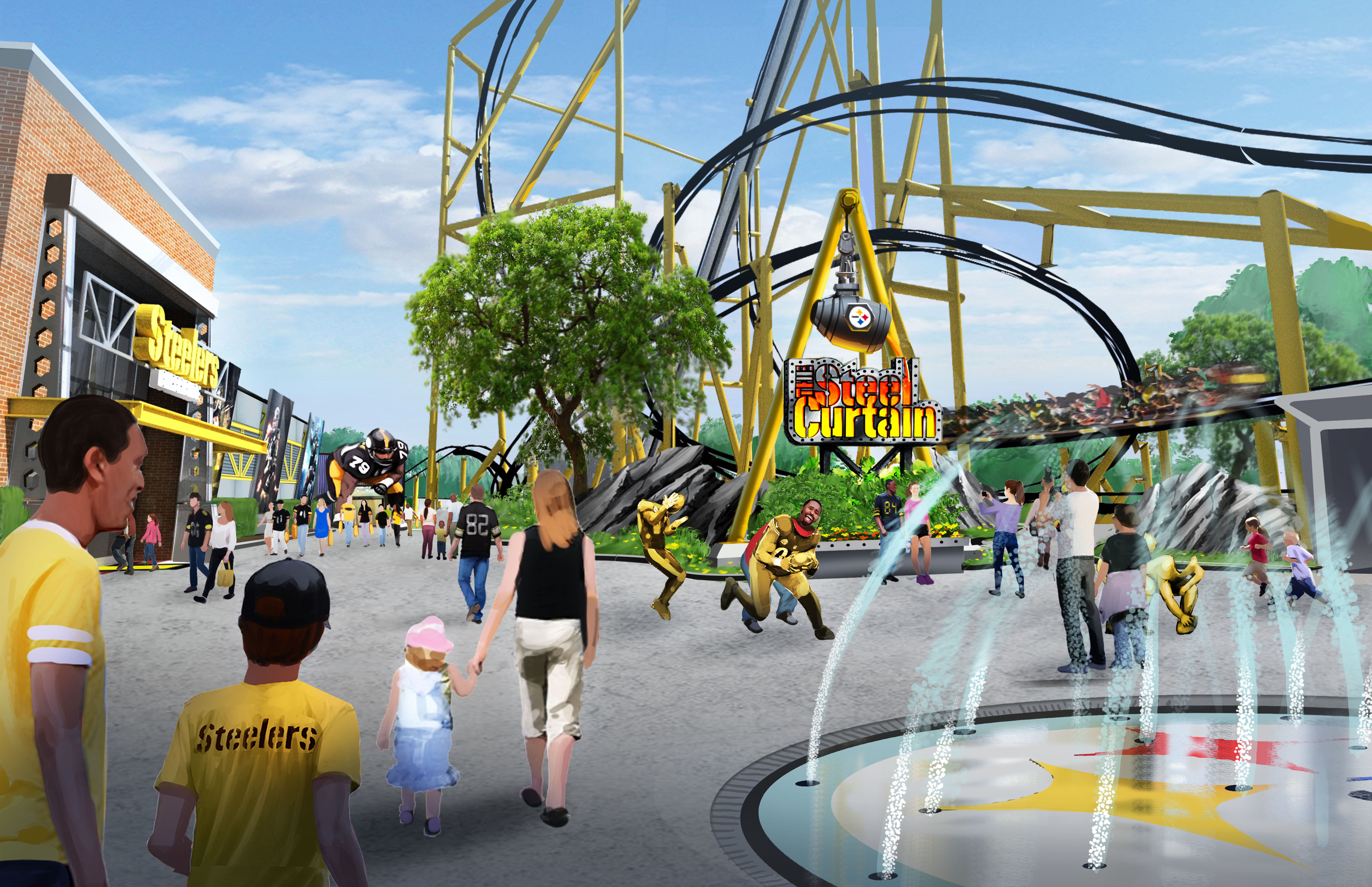 An inside look at Kennywood Park's Steelers-themed roller coaster