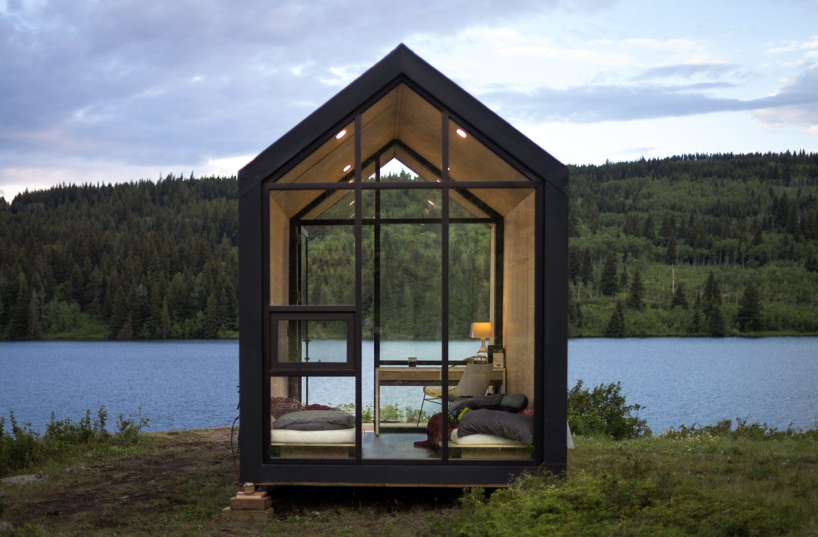 Drop this dreamy prefab cabin wherever you like