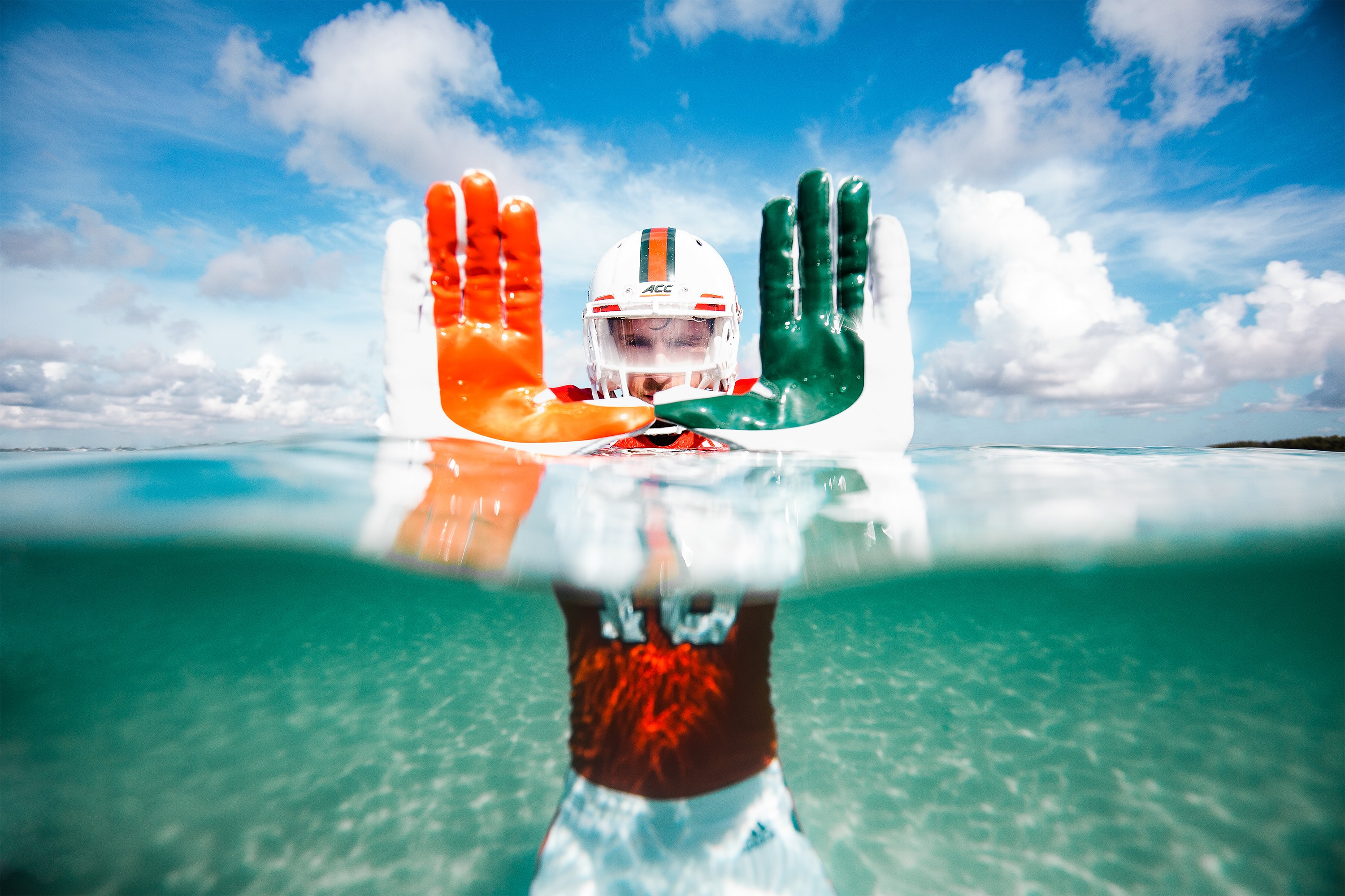 Miami Hurricanes unveil adidas x Parley A1 alternate jerseys for LSU game 62414fb38
