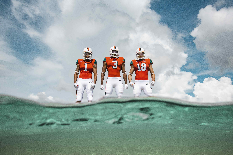 Miami Hurricanes unveil adidas x Parley A1 alternate jerseys for LSU ... 16a29fa85