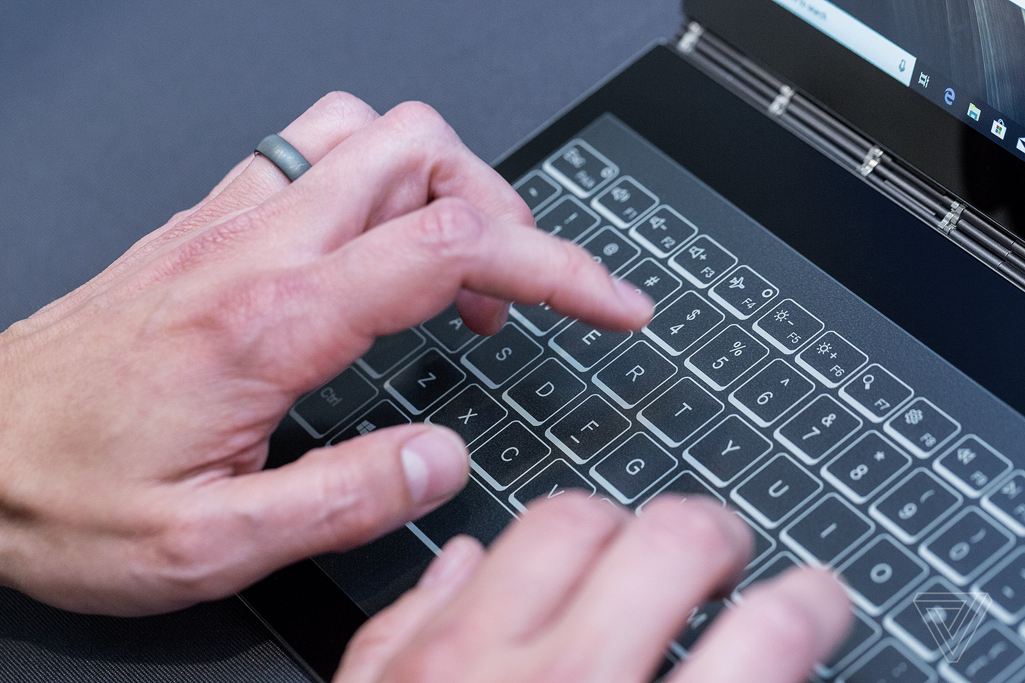 Lenovo's new Yoga Book replaces the keyboard with an E Ink
