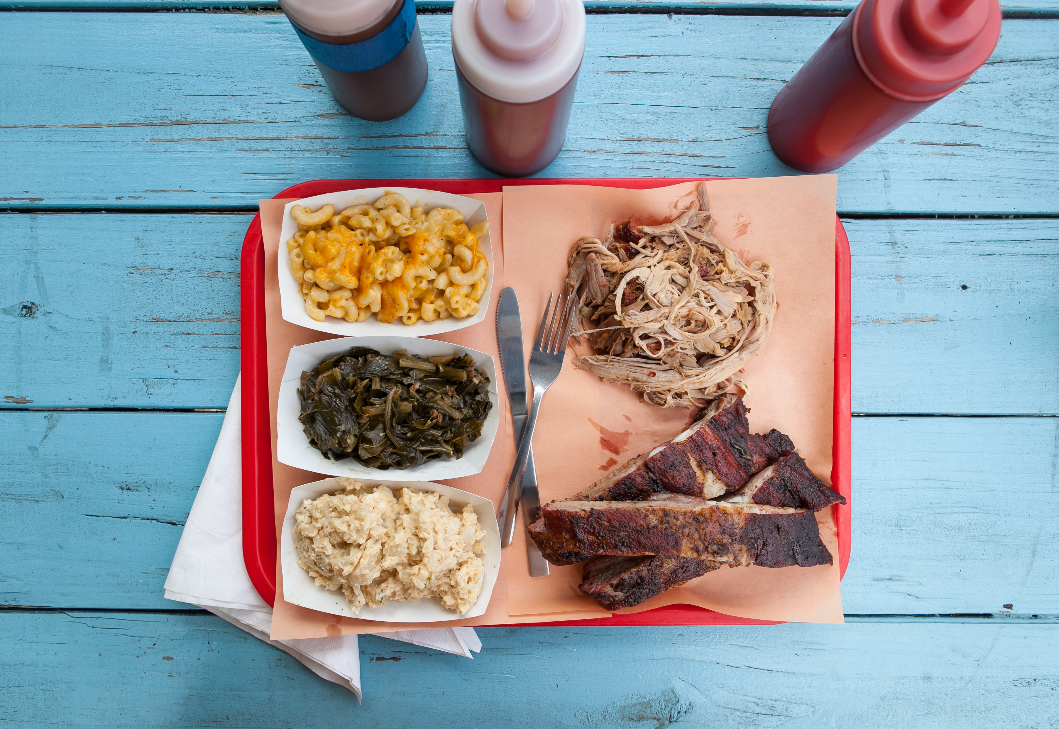 A plate of barbecue from Rodney Scott's BBQ